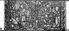 Ensemble archiépiscopal - Vitrail, sacristie des Chanoines, saint Pierre et saint Paul, neuvième panneau