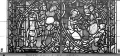 Ensemble archiépiscopal - Vitrail, sacristie des Chanoines, saint Pierre et saint Paul, dixième panneau