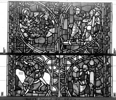 Ensemble archiépiscopal - Vitrail, sacristie des Chanoines, saint Pierre et saint Paul, onzième panneau