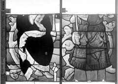 Eglise Saint-Godard - Vitrail baie 18, Arbre de Jessé, premier panneau, en haut