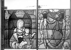 Eglise Saint-Godard - Vitrail baie 18, Arbre de Jessé, deuxième panneau, en haut