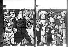 Eglise Saint-Godard - Vitrail baie 18, Arbre de Jessé, troisième panneau, en haut