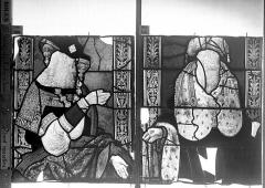 Eglise Saint-Godard - Vitrail baie 18, Arbre de Jessé, treizième panneau, en haut