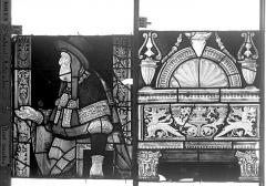 Eglise Saint-Godard - Vitrail baie 18, Arbre de Jessé, dixseptième panneau, en haut