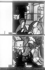 Eglise Saint-Godard - Vitrail, baie 16, Vie de la Vierge, quatrième panneau, en haut