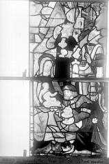 Eglise Saint-Godard - Vitrail, baie 16, Vie de la Vierge, sixième panneau, en haut