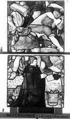 Eglise Saint-Patrice - Vitrail, Légende de saint Eustache, lancette gauche, troisième panneau