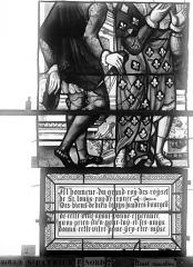Eglise Saint-Patrice - Vitrail, Vie de saint Louis, lancette médiane, troisième panneau