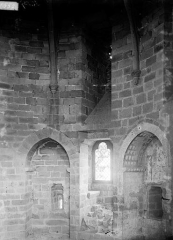 Vestiges du château et sa deuxième enceinte - Donjon circulaire : salle du premier étage