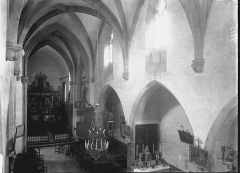 Eglise Sainte-Valérie, dite église du Moutier - Nef vue de la tribune