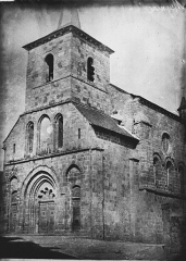 Eglise abbatiale Saint-André et Saint-Léger - Façade ouest