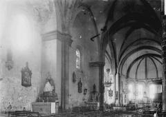 Eglise abbatiale Saint-André et Saint-Léger - Nef vue de l'entrée