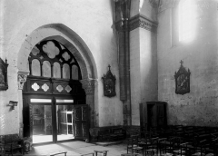 Eglise abbatiale Saint-André et Saint-Léger - Portail vu de l'intérieur