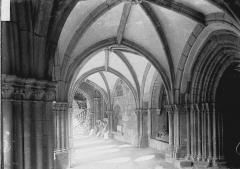 Cathédrale Saint-Martin, actuellement Notre-Dame et cloître, actuellement Musée municipal - Cloître : Vue intérieure d'une galerie