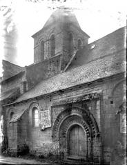 Eglise paroissiale Saint-Gilles - Façade nord : Portail et clocher