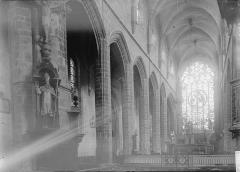 Eglise Saint-Aubin (ancienne collégiale) - Nef vue de l'entrée