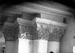 Ancienne abbaye royale de Fontevraud, actuellement centre culturel de l'Ouest - Eglise : Chapiteaux du deuxième pilier nord de la nef