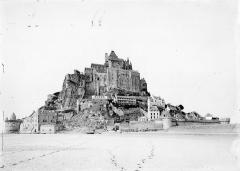 Abbaye et dépendances - Vue générale avant la restitution de la flèche