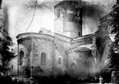 Eglise Saint-Hilaire et ancien monastère - Abside et clocher, au nord