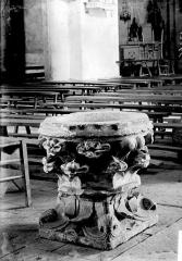 Eglise Saint-Hilaire et ancien monastère - Fonts baptismaux