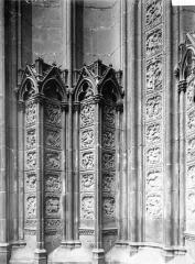 Ensemble archiépiscopal - Portail, piédroit, quatrefeuilles