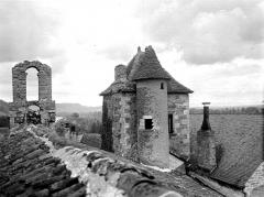 Ancien prieuré ou château - Château : Toitures