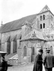 Eglise - Clocher et abside au sud : restauration des couvertures