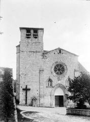 Collégiale Saint-Martin et maisons adossées à son chevet - Ensemble ouest