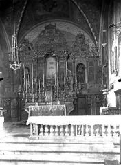 Monastère franciscain de Cimiez - Choeur, maître-autel : vue d'ensemble