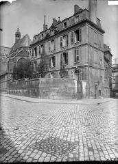 Presbytère de l'église Saint-Etienne-du-Mont - Façade sur rue