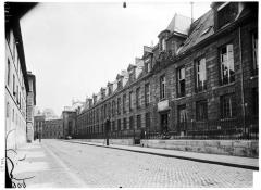 Pavillon de l'Arsenal, actuellement bibliothèque de l'Arsenal - Vue générale sur rue