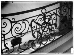 Maison dite aussi Hôtel d'Ecquevilly ou du Grand Veneur - Rampe d'escalier en fer
