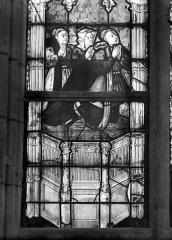 Cathédrale Notre-Dame - Vitrail du choeur : Donateurs